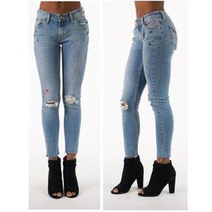 Levi's 535 Super Skinny Hearts & Stars Denim Jeans